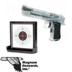 Desert Eagle 44 Magnum Clear Airsoft Pistol and Sticky Target